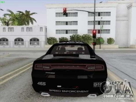 Dodge Charger 2012 Police para GTA San Andreas vista inferior