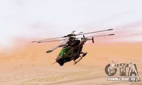AH-2 Сrysis 50 C.E.L.L. helicóptero para GTA San Andreas vista traseira