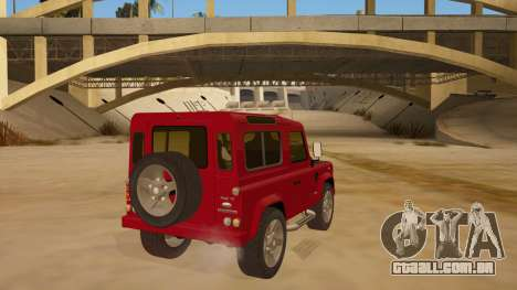 Land Rover Defender para GTA San Andreas vista direita