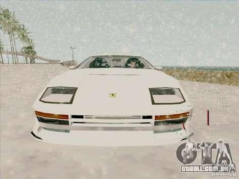 Ferrari Testarossa Custom para GTA San Andreas vista direita