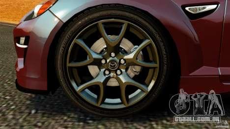 Mazda RX-8 R3 2011 para GTA 4 vista interior