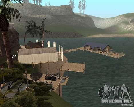 Villa na lagoa de pesca para GTA San Andreas por diante tela