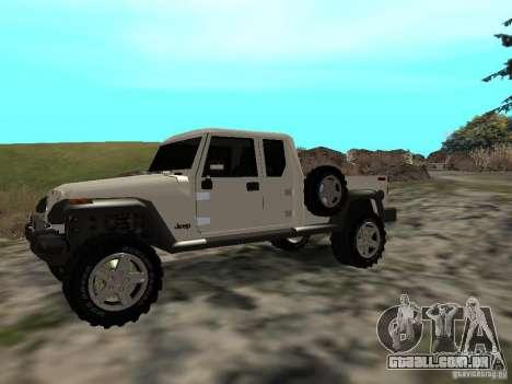 Jeep Gladiator para GTA San Andreas esquerda vista