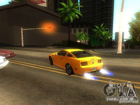 Ford Shelby GT 2008 para vista lateral GTA San Andreas