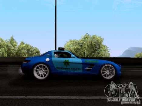 Mercedes-Benz SLS AMG Blue SCPD para GTA San Andreas vista traseira