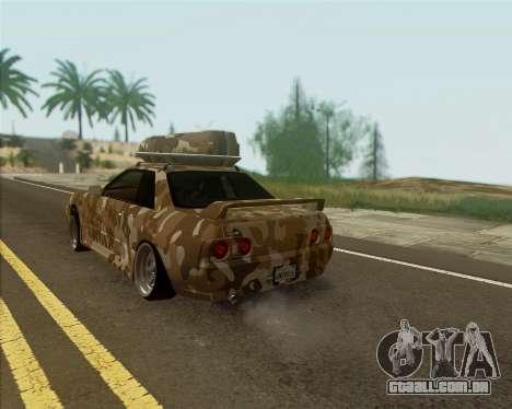 Nissan Skyline R33 Army para GTA San Andreas