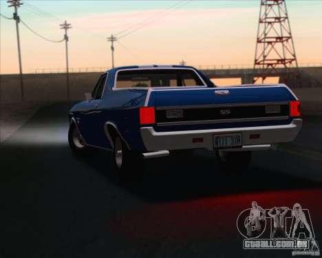 Chevrolet EL Camino SS 70 para vista lateral GTA San Andreas