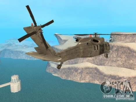 O UH-60 do COD MW3 para GTA San Andreas esquerda vista