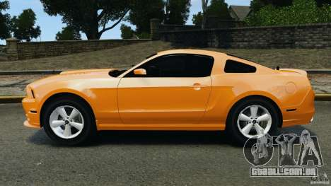 Ford Mustang 2013 Police Edition [ELS] para GTA 4 esquerda vista