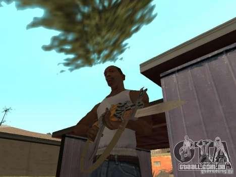 AK 47 com um HD de baioneta-faca para GTA San Andreas segunda tela