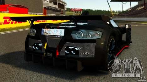 Gumpert Apollo Enraged 2012 para GTA 4 traseira esquerda vista