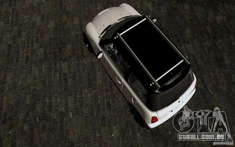 Mini Cooper S Tuned para GTA San Andreas vista interior