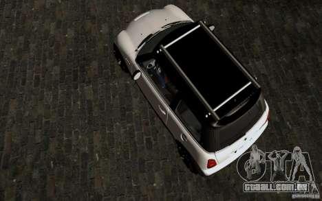 Mini Cooper S Tuned para GTA San Andreas vista interior