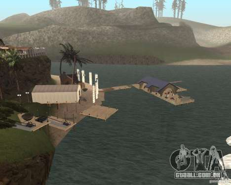 Villa na lagoa de pesca para GTA San Andreas segunda tela