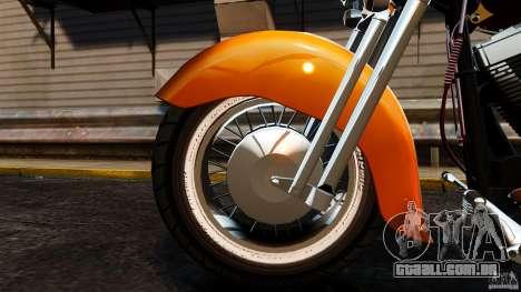 Harley Davidson Fat Boy Lo Vintage para GTA 4 vista interior