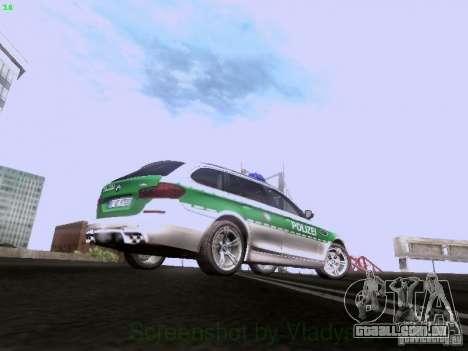 BMW M5 Touring Polizei para GTA San Andreas vista traseira