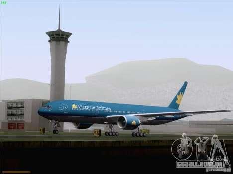 Boeing 777-2Q8ER Vietnam Airlines para GTA San Andreas vista superior