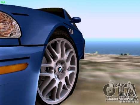 BMW M3 Tunable para GTA San Andreas vista traseira
