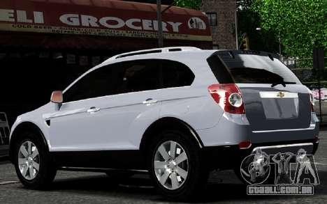 Chevrolet Captiva 2010 para GTA 4 vista direita