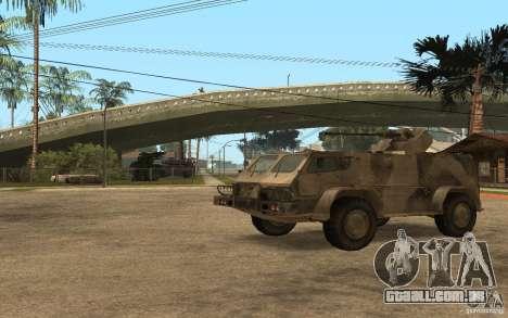 GÁS-3937 Vodnik para GTA San Andreas esquerda vista