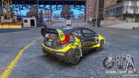 Ford Fiesta Rallycross para GTA 4 traseira esquerda vista