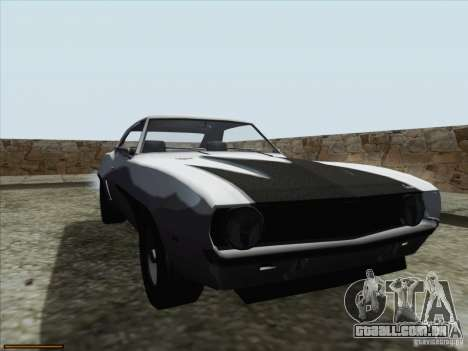Chevrolet Camaro 1969 para GTA San Andreas vista inferior