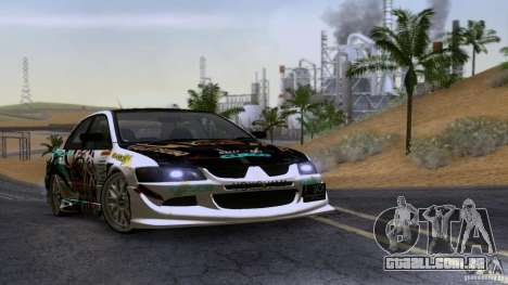 Mitsubishi Lancer Evolution 8 para GTA San Andreas esquerda vista