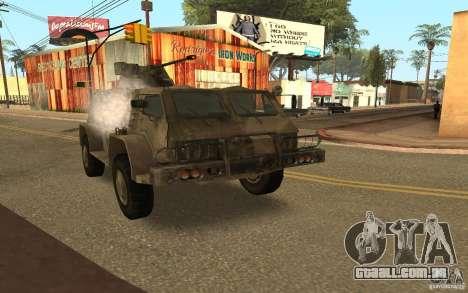 GÁS-3937 Vodnik para GTA San Andreas vista traseira