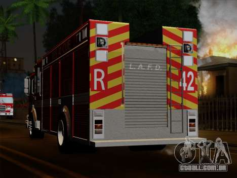 Pierce Contender LAFD Rescue 42 para vista lateral GTA San Andreas