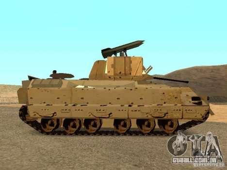 M2A3 Bradley para GTA San Andreas esquerda vista