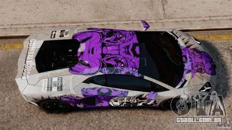 Lamborghini Aventador LP700-4 2012 Galag Gumball para GTA 4 vista direita