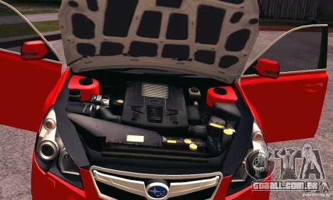 Subaru Legacy B4 2010 para vista lateral GTA San Andreas