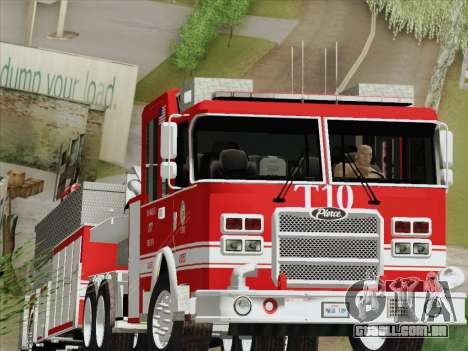 Pierce Arrow XT LAFD Tiller Ladder Truck 10 para GTA San Andreas esquerda vista