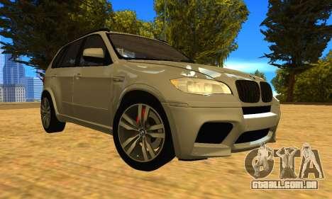 BMW X5M 2013 v2.0 para GTA San Andreas vista traseira