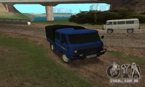 UAZ 39094 Fermer para GTA San Andreas traseira esquerda vista
