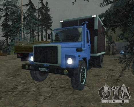 GAZ 3309 para GTA San Andreas traseira esquerda vista