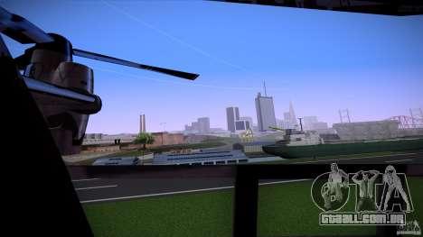 First Person Mod v2 para GTA San Andreas por diante tela