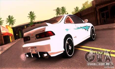 Honda Integra Tunable para GTA San Andreas interior