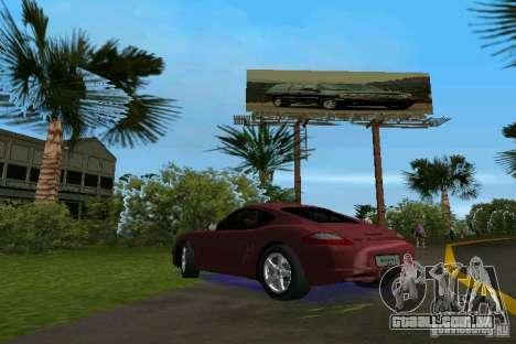 Porsche Cayman para GTA Vice City deixou vista