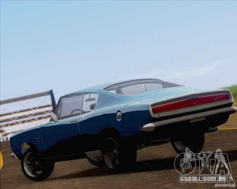 Plymouth Barracuda 1968 para vista lateral GTA San Andreas
