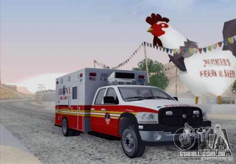 Dodge Ram Ambulance para GTA San Andreas esquerda vista