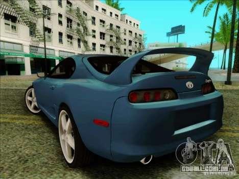 Toyota Supra RZ 1998 para GTA San Andreas traseira esquerda vista