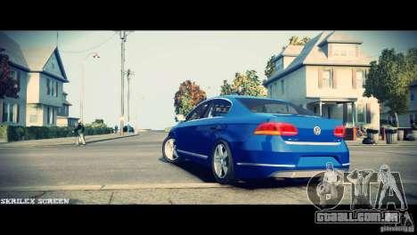 VW Passat B7 TDI Blue Motion para GTA 4 vista de volta