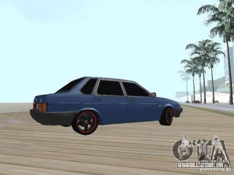 VAZ 21099 v2 para GTA San Andreas traseira esquerda vista