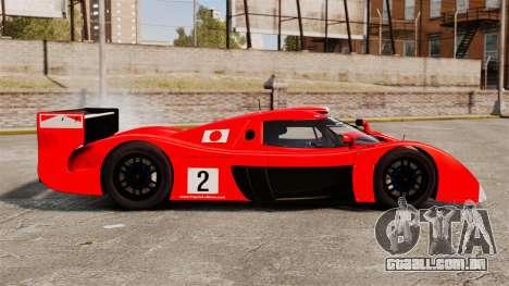 Toyota GT-One TS020 para GTA 4 esquerda vista