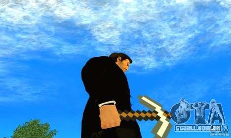 Escolher o jogo Minecraft para GTA San Andreas terceira tela