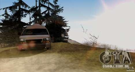 GMC Savana AWD para GTA San Andreas vista interior