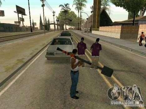 Lopatomët para GTA San Andreas quinto tela