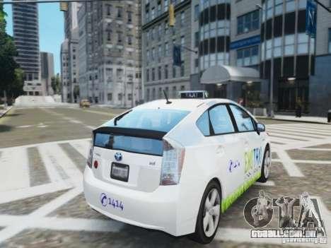 Toyota Prius EKO TAXI (Hrvatski taxi) para GTA 4 traseira esquerda vista