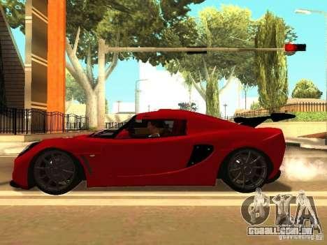 Lotus Exige 240R para GTA San Andreas vista traseira